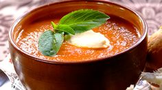 Bring the summer into your home whatever the weather, with the fresh Mediterranean flavours of this quick and simple classic. Basil and Tomato soup makes for a great starter or a tasty lunch. Soup Recipes Uk, Lentil Soup Recipes, Tomato Soup Recipes, Cooking Recipes, Easy Recipes, Basil Soup Recipe, Winter Food, Soup And Salad, The Fresh