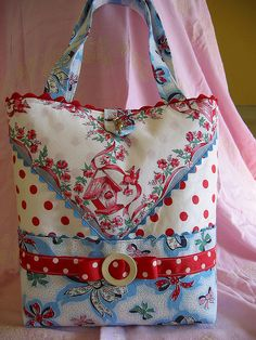 Birdhouse Hankie Tote by Dime Store Chic, via Flickr