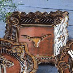 Longhorn Art Pottery Plate
