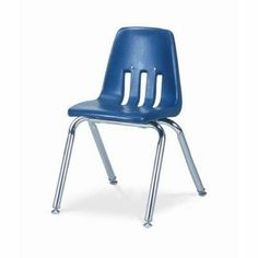 "9000 Series 14"" Polyethylene Classroom Glides Chair [Set of 4] Seat Color: Navy, Foot Type: Nylon Base by Virco. $139.96. 9014-BLU51-CHRM Seat Color: Navy, Foot Type: Nylon Base Features: -Welded steel frame with heavy gauge tubular steel supports.-Injection molded polyethylene with rolled edges to enhance posture.-Polyethylene has an additive to help dispel static.-Three ventilation holes on seat back.-Use with Chair Truck Model # HCT789 or HCT4. Includes: -Includes nylon gli..."