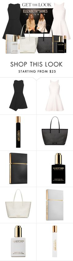 """""""Get the look: Mary-Kate & Ashley - Elizabeth and James"""" by nullabohr ❤ liked on Polyvore featuring Olsen, Elizabeth and James, GetTheLook and celebritysiblings"""