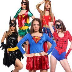 Damen Karneval Kostüm Superheldin Sexy Woman hero f. Karneval Party Mottoparty