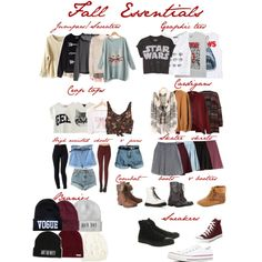 Fall Essentials by sortoflexie, via Polyvore