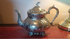Antique Edwardian Teapot 1903 Silver Plated Country House Syle by SOHOANTIQUESIRL on Etsy Teapot, Tea Time, Silver Plate, Plating, It Cast, Handmade Items, Country, Antiques, House