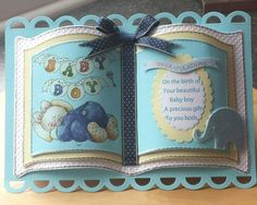 Bookatrix new baby boy. Baby Boy Cards, Baby Shower Cards, Step Cards, Baby Boy Christening, Crafters Companion Cards, Card Book, Creative Lettering, Marianne Design, Card Patterns
