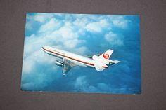 Vintage Original JAL DC-10 Japan Postcard DC 10 Airliner Japan Air Lines 1970's Postcards Japan Airlines Post Card Japanese Printed in Japan by TreasureGalleria on Etsy