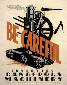 Dangerous Machine Steampunk Art Poster Print Wall Decor Dieselpunk | eBay