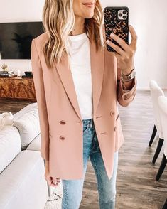 Outfit Jeans, Jeans Outfit Summer, Work Outfit Summer, Loafers Outfit, Summer Blazer, Summer Jeans, Shirt Outfit, Tee Shirt, Mode Outfits