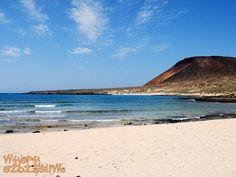 Wysepka La Graciosa położona na północ od #Lanzarote