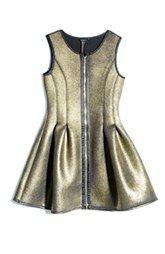 MarcianoMetallic Fit & Flare Dress (Big Girls)