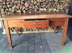 Tisch, Esstisch,Küchentisch Fichte massiv mit Schublade-alt