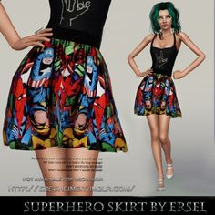 Superhero Skirt by Ersel - Sims 3 Downloads CC Caboodle