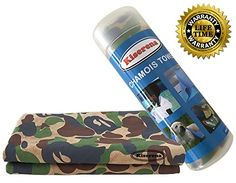 Kiserena Chamois Towel (Camo) - Fast Dry Chamois Cloth Ideal for Hair, Pet, Dish, Car Drying, Easy Cleaning or Swimming. Super Absorbent Cooling Towel for Extreme Hot Weather, Workout or Sports. One Towel Per Tube. Includes Free Ebook and 100% Money Back Guarantee Kiserena http://www.amazon.com/dp/B00WILYGL8/ref=cm_sw_r_pi_dp_UnUWvb13Z2Z32