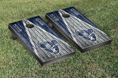 Xavier University Musketeers Reclaimed Wood w/ Triangle Bag Toss Game Set