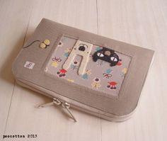 ハンドメイド 母子手帳 通帳ケース(ちょうちょ) インテリア 雑貨 Handmade notebook case ¥2300yen 〆05月11日
