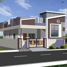 House Elevation Designers In Hyderabad Bhk Individual Home Drawings Ranch Elevations . House Front Wall Design, House Floor Design, Village House Design, Kerala House Design, Bungalow House Design, Front Design, House Elevation, Front Elevation, Model House Plan