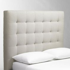 DIY: Homemade Tuft Headboard! So damn cute. I want to dedicate some time to try and make this for my new place!