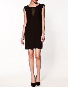 zara // black V-BACK DRESS