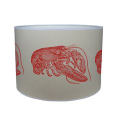 Red lobster shade/ lamp shade/ ceiling shade/ drum by KitschAttic