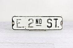 Street Sign, Industrial Decor, Old Sign, Vintage Sign by HuntandFound on Etsy