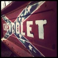 Chevy Tailgate with Rebel Flag! Jacked Up Trucks, Lifted Chevy, Chevy Trucks, Pickup Trucks, Chevy 4x4, Chevy Silverado, Rockabilly, Chevy Girl, Ford Girl
