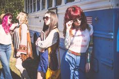 Styles found at Buffalo Exchange Charlotte for a 70s inspired editorial