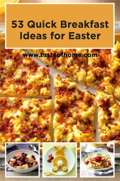 Need speedy Easter breakfast ideas? We've got you covered with decadent overnight French toast, fruity parfaits perfect for buffets, or eggy sausage casseroles to feed a crowd—all brunch recipes you'll make again and again. Easter Recipes, Easter Ideas, Brunch Recipes, New Recipes, Bacon Breakfast, Breakfast Ideas, Breakfast Recipes, Brunch Casserole, Sausage Casserole
