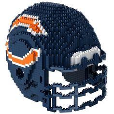 Chicago Bears NFL 3D BRXLZ Puzzle Helmet Set. Contains apprx. 1400 pieces.