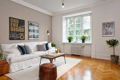 Un apartamento con decoración nórdica