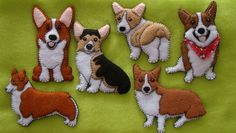 Pembroke Welsh Corgi Ornament plus magnet-Handmade felt by justsue