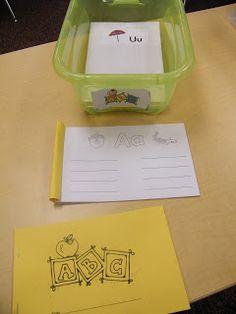 Inspired by Kindergarten: Handwriting/Writing Center Idea