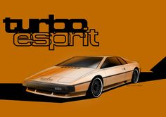 Lotus Esprit Turbo sketch by Douglas Hogg