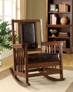 Apple Valley Transitional Espresso Leatherette Solid Wood Accent Chair