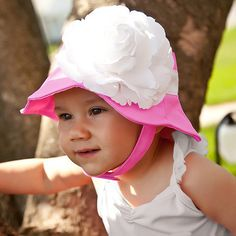 Mademoiselle Hot Pink Baby and Toddler Girl Sun Hat - $12.99 USD #Melondipity