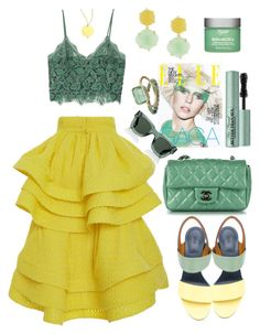 """🌼🍀🌼🍀"" by xmoonagedaydreamx ❤ liked on Polyvore featuring MANGO, Chloé, Chanel, Gurhan, Rosantica, Too Faced Cosmetics, Kiehl's, Irene Neuwirth and Givenchy"