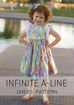 Girls' dress pattern with dozens of customizable options!