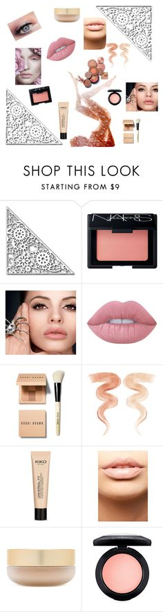 """nude makeup"" by sbrookes ❤ liked on Polyvore featuring beauty, NARS Cosmetics, Lime Crime, Bobbi Brown Cosmetics, Jane Iredale, MDMflow, Eve Lom and MAC Cosmetics"