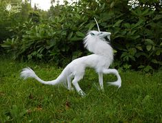Hymn the Unicorn ooak original fantasy artdoll Animal Action, Fantasy Dolls, Carousels, Botanical Drawings, Fantasy Creatures, Bjd, Art Dolls, Beast, Artworks