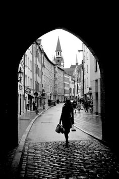 """""""MunichStreet"""" by nicken! Find more inspiring images at ViewBug - the world's most rewarding photo community. http://www.viewbug.com/contests/downtown-in-black-and-white-photo-contest/4922291"""