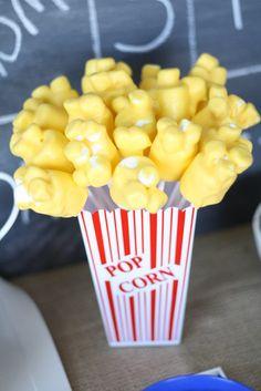 Popcorn marshmallow pops