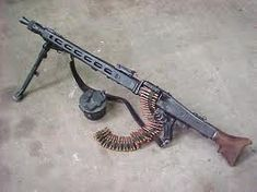 German MG42 machine gun. One of the most feared machine guns of WWII. Also known as the Devil's Chainsaw.