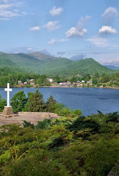 Lake Junaluska, near Asheville, North Carolina, near the Great Smoky Mountains. Retreat center.
