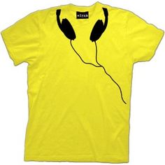 Music shirt DJ Headphone Listen Up music Mens cool T-Shirt