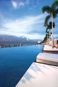 Fantastic rooftop pool: Sands SkyPark in Singapore > één van de mooiste zwembaden ter wereld