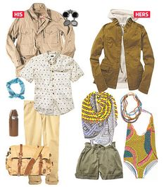 """What to wear on safari""- this is the first one I've seen that isn't like, tacky stereotypical and over the top"