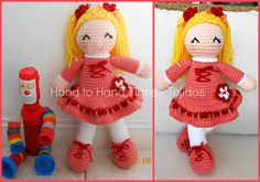 Amigurumi crochet doll by Hand to Hand Tigre - Tejidos. https://www.facebook.com/photo.php?fbid=480879665333131=a.356287454459020.88855.356270324460733=1