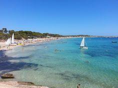Playa de las salinas Ibiza, una de las mas famosas http://ibiza-travel.net/playa-de-las-salinas-ibiza/