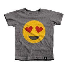 Heart Eyes Emoji T-shirt - Kids