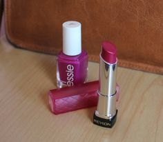 Revlon Raspberry Pie Lip Butter and Essie Polish in Big Spender make a berry pretty combo ;)