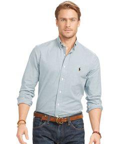Ralph Lauren Slim Fit, Polo Ralph Lauren, Ralph Laurent, Frat Guys, Outfit Grid, Well Dressed Men, Men's Style, Casual Button Down Shirts, Jeans